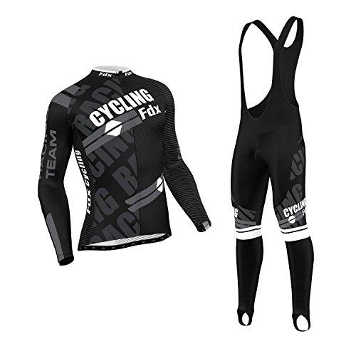 FDX - Giacca termica da ciclismo da uomo, con bretelle aderenti, taglia M, colore: Bianco