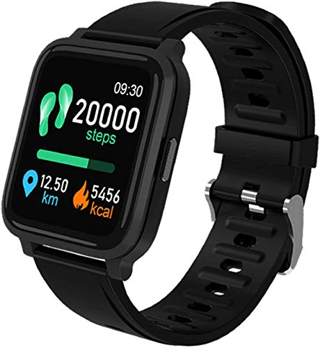 ZHENAO Exquisito Reloj Inteligente 1.3'Pantalla Táctil Completa para Android Ios Activity Tracker Ip68 Impermeable Bluetooth Smartwatch Mensaje Notificación Fitness Tracker con Rel