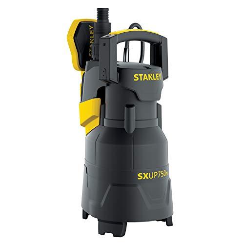 STANLEY SXUP750PTE Pompa Immersione per Acque Chiare e Scure (750 W, Portata max. 13.500 l/h, Prevalenza max. 8 m)