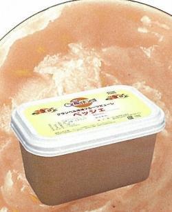 【グランベル】冷凍ペッシェピューレ(10%加糖)1kg<白桃>