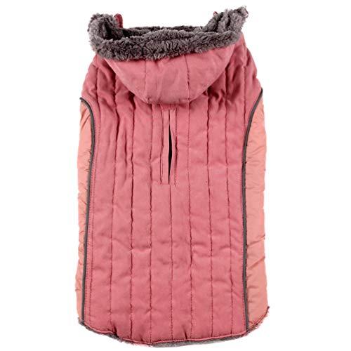 JoyDaog Fleece Hund Hoodie FüR Kleine Hunde Jacke Warm FüR Kalte Winter HundemäNtel, Pink Xs