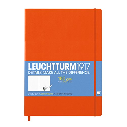 LEUCHTTURM1917 345004 Skizzenbuch Master (A4+), Hardcover, 96 Seiten (180 g/qm), Orange