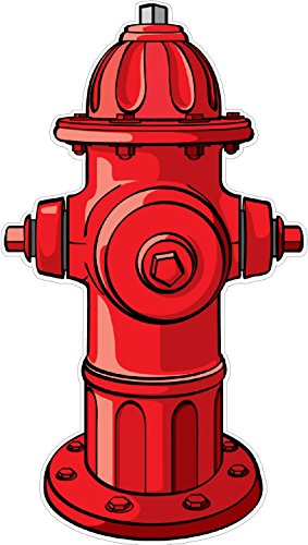 Fire Hydrant Wall Decal Kids Childrens Room Peel Stick Movable Cartoon Stickers Vinyl Wall Art