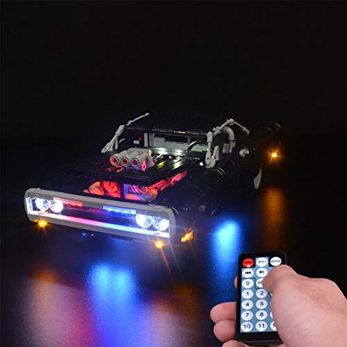 PEXL Beleuchtung Licht Set mit RC für LEGO Technik Dodge Charger, LED Beleuchtungsset Kompatibel mit Lego 42111 Technic Dodge Charger (Ohne Lego Set)
