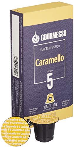 Gourmesso Soffio Caramello (Karamell) - 10 Nespresso kompatible Kaffeekapseln - Fairtrade