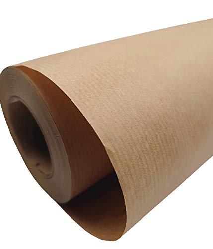 50 cm - 50 m Marrón PAPEL KRAFT, papel de regalo, rollo de papel Kraft Ideal para manualidades, embalaje de regalo, papel de...
