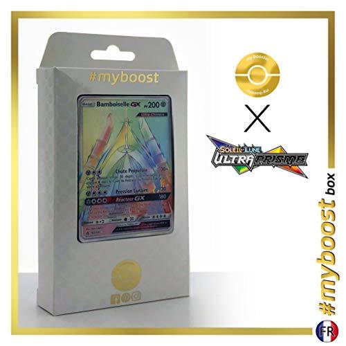 Bamboiselle-GX (Celesteela-GX) 162/156 Shiny Rainbow - #myboost X Soleil & Lune 5 Ultra-Prisme - Doos met 10 Franse Pokemon kaarten