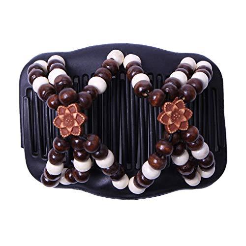 VektenxiPerlen Magie Doppelkamm Clip Stretchy Haarkämme Pins für Frauen Haarschmuck Kostengünstige und Gute Qualität