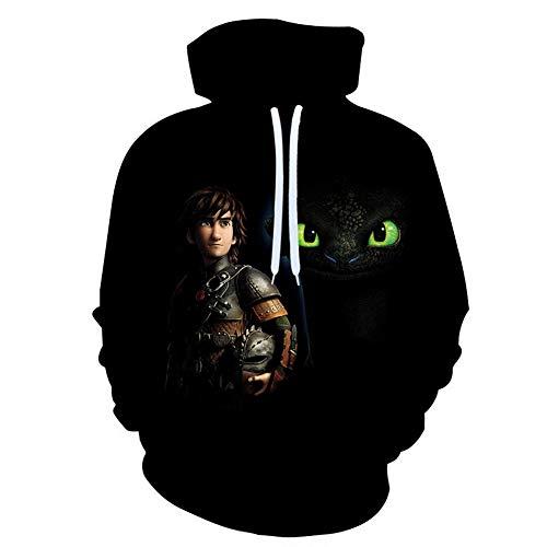 HOOLAZA Unisex 3D-bedrucktes Kapuzen-Sweatshirt Lässiger Pullover Hoodie Langarm mit Tasche für Männer Frauen Jungen Mädchen