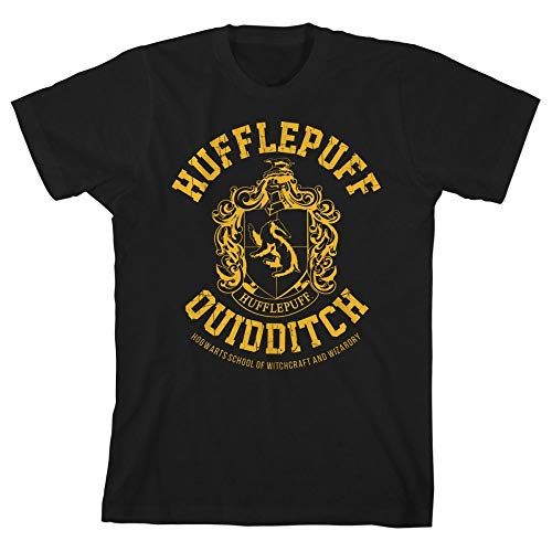 HARRY POTTER Gryffindor Slytherin Ravenclaw Hufflepuff Quidditch Boys Youth T-Shirt(Hufflepuff,Small)