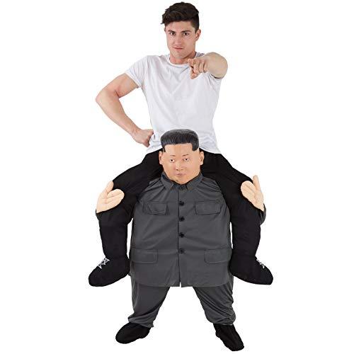 Morph MCPBKJ Mach es selbst Füllung Halloween Karneval Huckepack Kostüm, Kim Jong Un, Einheitsgröße
