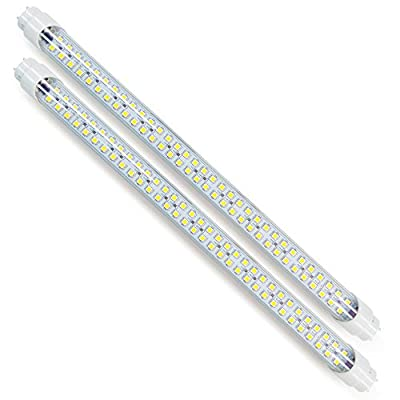 """Duo-Pack of Eco-LED Plug-&-Play dimmable 18"""" tubes in Cold White, T8 for 12V DC installation. (LT8-CWM2)"""
