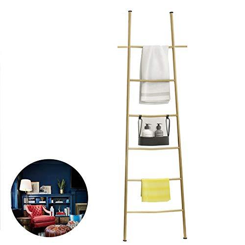 Moderner dekorativer Metallleiter zum Anlehnen von Decken, Handtuchhalter, Handtuch-Leiter aus Edelstahl, 1,7 m hoch, zum Aufhängen von Handtüchern und Ausstellen von Handtüchern
