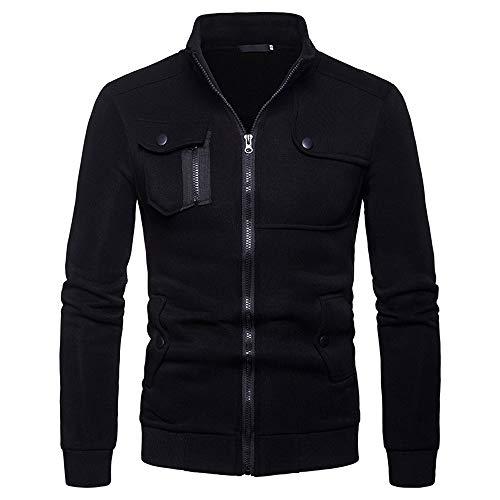 Sweat-Shirt Homme Soldes Manches Longues Pullover Pull Uni Zippé Bomber Blouson Gilets Veste Sport Basic Oversize Sweats