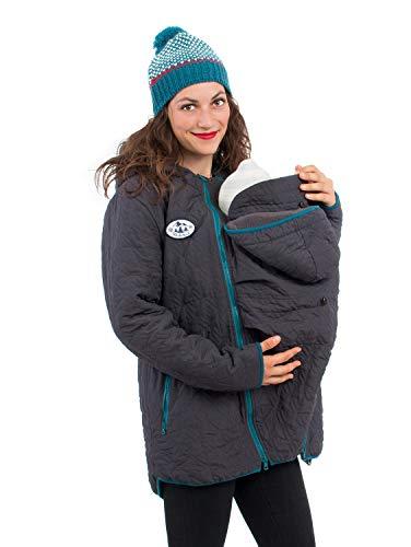 Viva la Mama 3in1 Jacke mit Babytrageinsatz Winterumstandsjacke Winterjacke gefüttert Mama+Baby Jacke Nevada anthrazit - M