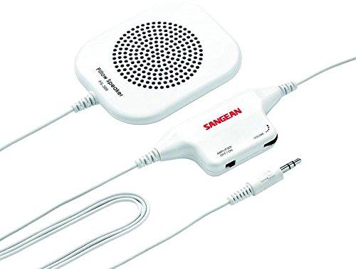 Sangean PS300–Pillow Speaker for Private Listening, White