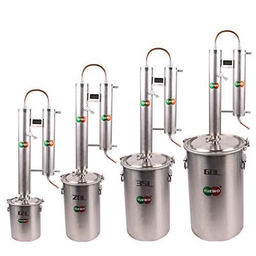 12 ~ 60L Alambique Destilador Alcohol Whisky Cerveza Bebidas Espirituosas Destilador Aceite...