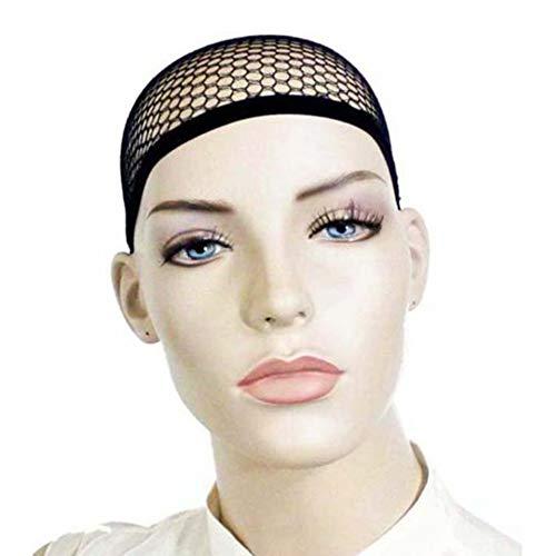 Sungpunet 3 PCS durable perruque tissage filet extensible maille élastique Résille Snood Cap avec Open End Noir utile et beau