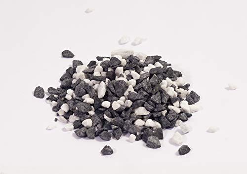 NWN Gartensplitt Schwarz-Weiß   250 KG Big Bag   8-16 MM   schwarz-weiß   Dekosteine   Zierkies/Ziersplitt (250 KG Big Bag)