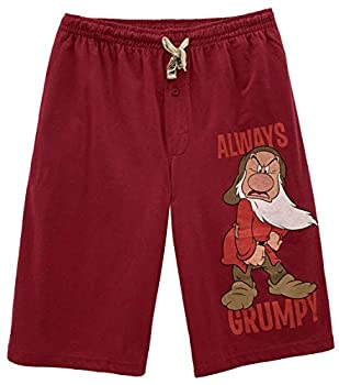 Disney Snow White and The Seven Dwarfs Grumpy Lounge Shorts for Men  Small