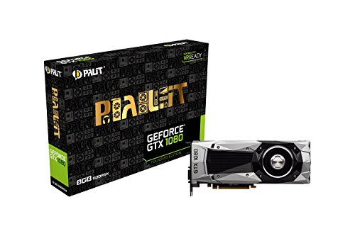 Palit GeForce GTX 1080 Founders Edition PCI-Express-Grafikkarte silber / grau