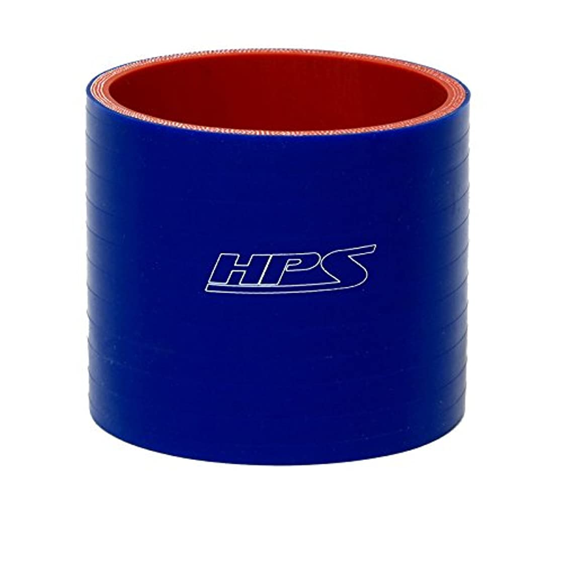 HPS HTSC-450-L6-BLUE Silicone High Temperature 4-ply Reinforced Straight Coupler Hose, 25 PSI Maximum Pressure, 6