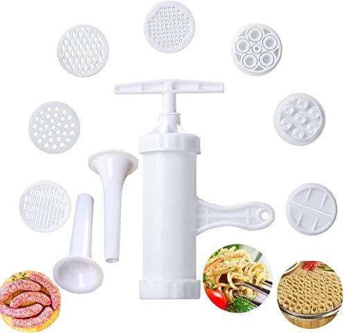 Pasta Maker Manual Noodle Maker Press Gemüsesaft zur Herstellung von Spaghetti Fettuccine Nudeln mit 9 Pressformen