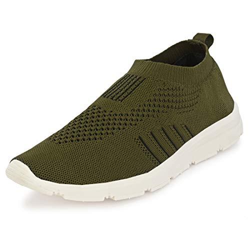 Bourge Men Vega-Z2 Olive Running Shoes-9 UK (43 EU) (10 US) (Vega-8-09)