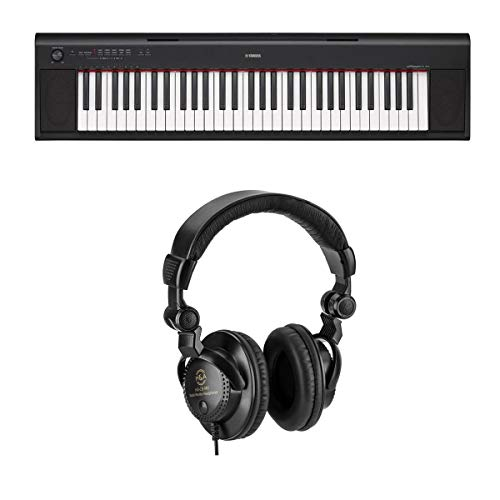 Yamaha NP12 61-Key Entry-Level Piaggero Portable Keyboard (Digital Piano),...