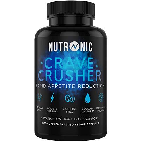 Crave Crusher Appetite Suppressant | Weight Loss for Women & Men | Glucomannan Diet Pills | 180 Veggie Capsules | Diet Supplement