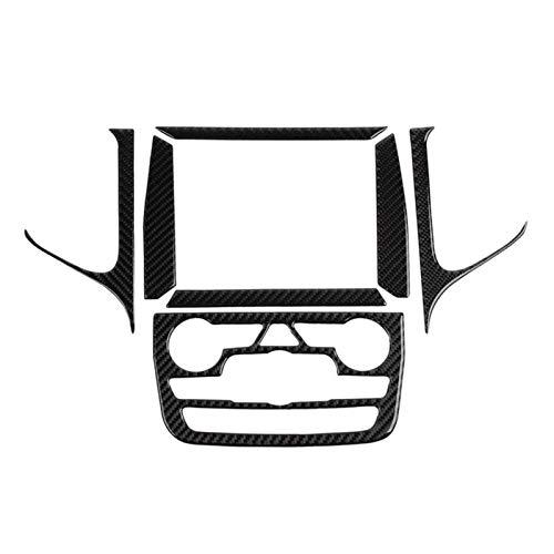 JIS Calcomanía de navegación GPS Ajuste para Jeep Grand Cherokee 2014-2018 Conjunto de Interiores Cubierta Interior Cubierta Interior Centro de Fibra de Carbono (Color Name : As pic)
