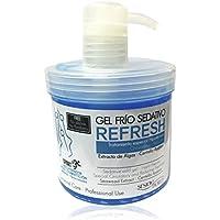 Sesiomworld Refresh Gel Frío Sedativo Recuperador Muscular sin Parabenos, Ni Siliconas 500 ml, 1 Unidad, 540 g