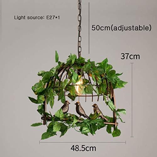 Shisyan Lámparas colgantes Americana Industrial viento Araña personalidad creativa de una sola cabeza de hierro forjado de la planta verde Restaurante Sala Balcón Bar Cafe Tienda de ropa de la lámpara