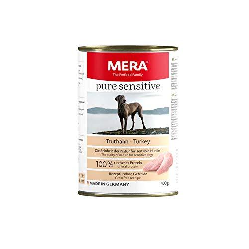 MERA Dog Pure Sensitive Meat Truthahn | 6X 400g Hundefutter nass