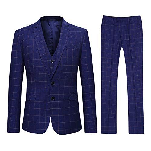 Youthup 3-delig herenpak met vest en broek regular fit voor business bruiloft en party