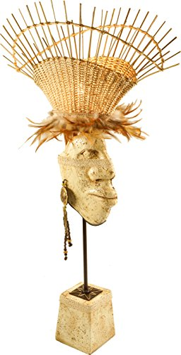 Guru-Shop Lampe de Table Lampe de Table Kokopelli Inca H1118, Nature, Abaccaschnüre, Couleur: Nature, 77x48x23 cm, Lampes de Table Kokopelli