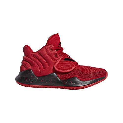 adidas Deep Threat J, Zapatillas de Baloncesto, Escarl/NEGBÁS/Escarl, 37 1/3 EU