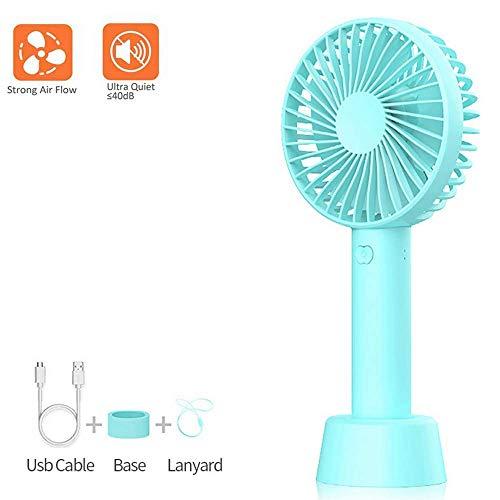 eLinkSmart USB-ventilatoren, draagbare mini-ventilator, met bureaubase voor thuis, kantoor, reizen in de buitenlucht