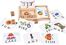 See and Spell Learning Toy - Preschool Letter Spelling and Matching Cards Educational Toy, Alphabet ABC Learning Montessori Puzzle Gift for Kindergarten Kids Boys Girls Age 3 4 5 Years Old
