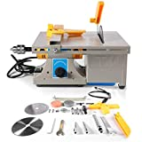 Jewelry Rock Bench Polishing Grinding Machine , 2020 Upgrade 110V 200W Multifunction Jewelry Rock Polishing Buffer Machine Table Bench Lathe Benchtop Polisher Took Kit for Woodworking Carving