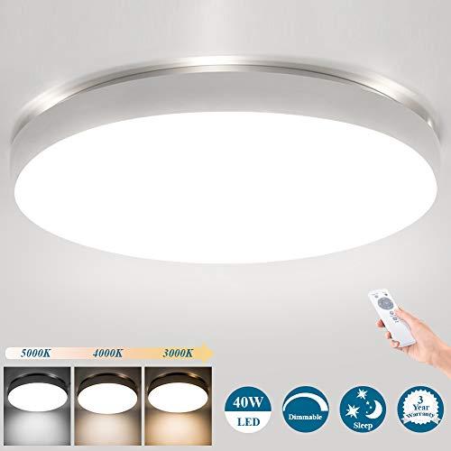Deckenlampe LED Deckenleuchte Mit Fernbedienung Dimmbar, Öuesen 40W 3600LM Φ49cm IP44 Wohnzimmer Lampe Modern LED Leuchte Schlafzimmer Lampe Decke Deckenleuchte Farbtemperatur Einstellbarer 3000-5000K