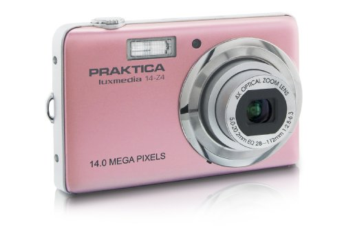 "Praktica Luxmedia 14-Z4Cámara Digital 14megapíxeles/Zoom óptico 4x/Pantalla de 6,9cm (2,7"") Rosa (Importado de Alemania)"