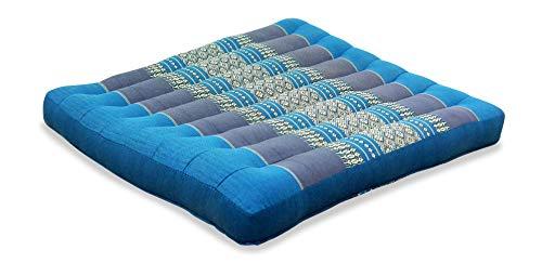 livasia Kapok Sitzkissen der Marke Asia Wohnstudio, Stuhlauflagen, Bodensitzkissen, Meditationskissen, Gartenstuhlauflage (hellblau)