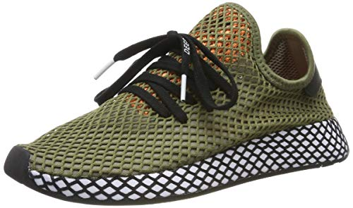 adidas Deerupt Runner, Zapatillas de Gimnasia Hombre, Verde (Raw Khaki/Core Black/Easy Orange Raw Khaki/Core Black/Easy Orange), 44 EU