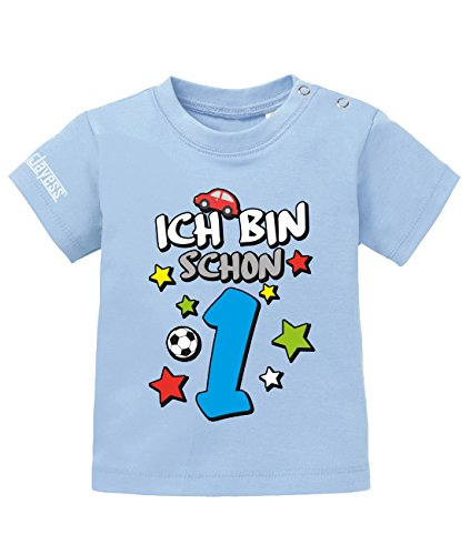 Jayess Shirt Ich Bin Schon 1 - Digital - Jungen - Baby T-Shirt in Hellblau by Jayess Gr. 56/62