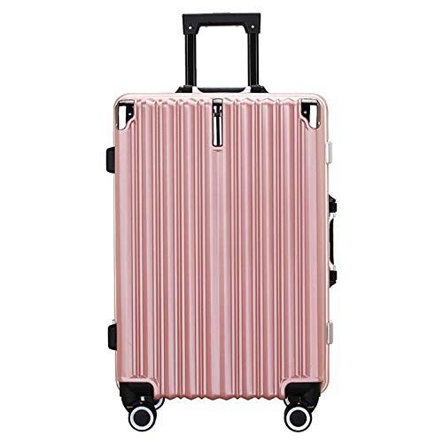Adlereyire Trolley Suitcase Lightweight Durable Carry On Cabin Hand Luggage Set, Travel Bag with 4 Wheels (Color : Rose-gold, Size : 40 * 27 * 65cm)