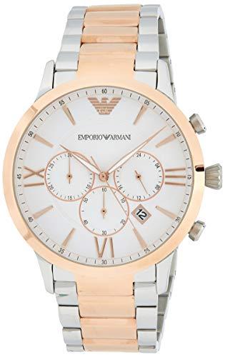 Emporio Armani Herren Chronograph Quarz Uhr mit Edelstahl Armband AR11209