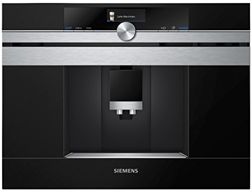 Siemens CT636LES1 iQ700 Einbau-Kaffeemaschine / sensoFlow System / Intelligent Heater Inside / OneTouch Function / calc'nClean / autoMilk Clean / edelstahl