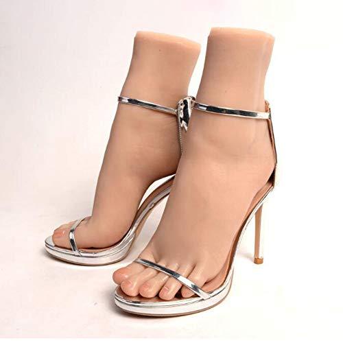 Miwaimao Weiblicher Fußschaufensterpuppe, realistischer Silikonfuß, Fußfetische, weibliche Fußfüße Modellschaufensterpuppe Realistische Nicht-toxische Latex-Geruchslosigkeit