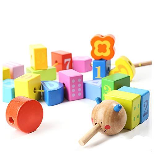 CX TECH Enfants Jouets Jouets Éducatifs pour Garçons Filles Mathématiques Cognition DIY Perles Perlées Filetage Jouets Main Coopération Oeil Activité Jouets